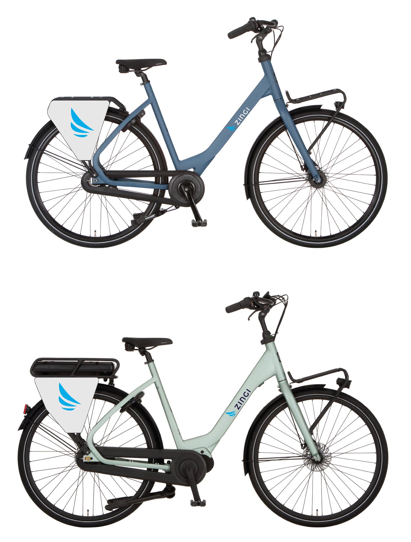 Zingi city bike and e-bike