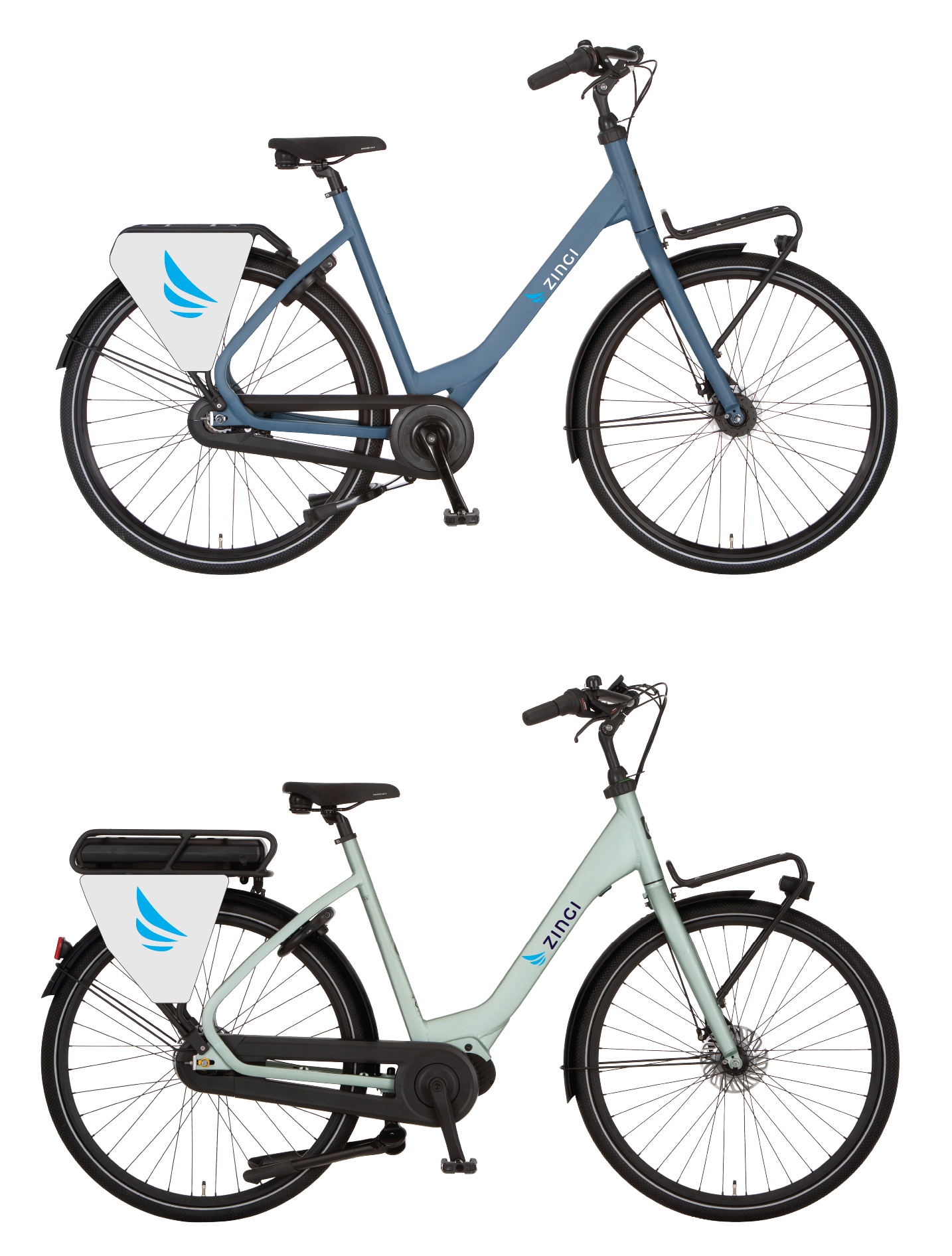 Zingi stadsfiets en e-bike